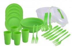 Piknikový set pro 4 osoby - zelený