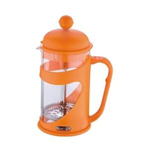 Konvička na čaj a kávu French Press 600 ml oranžová