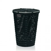 Laundry basket Noblesse black