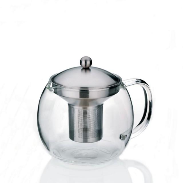 Konvice na čaj, sklo, nerez, 1,2l