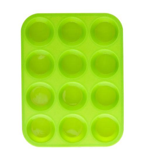 Forma na muffiny 12 ks silikonová, zelená