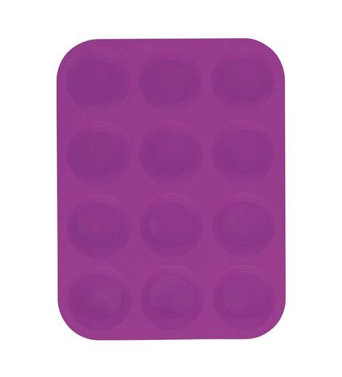 Forma na muffiny 12 ks silikonová, fialová