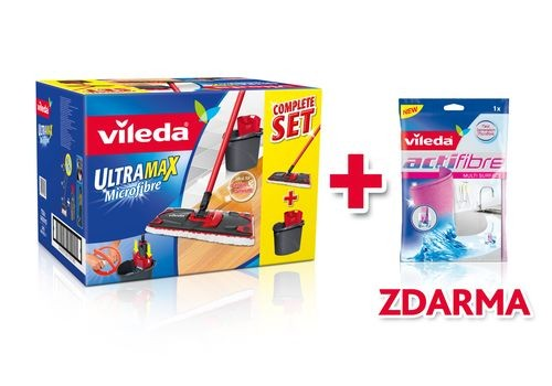 Mop Ultramat set BOX + Actifibre mikrohadřík 1 ks zdarma