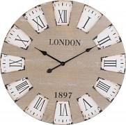 Nástěnné hodiny, 70x4 cm, dřevěné