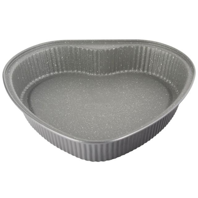 Forma na pečení ve tvaru srdce Gray Granit