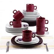 Jídelní sada nádobí 30 ks, fialová