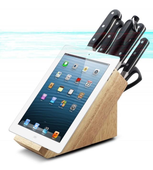 Sada nožů v bloku 8 ks PREMIUM, držák na tablet