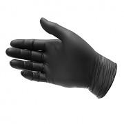 Rukavice jednorázové nitrilové S, 100 ks, černé