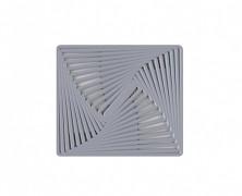 Protiskluzná podložka pod nádobí METRICO sv.šedá 24,5x28cm