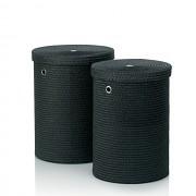 Sada prádelních košů RIMOSSA PP plastic, černá