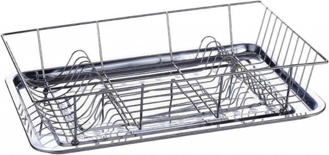 Odkapávač na nádobí s tácem nerez/chrom