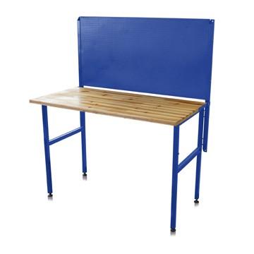 Pracovní stůl s děrovanou stěnou skládací 122 x 65 x 143 cm
