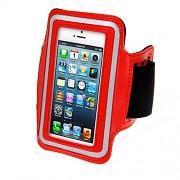 Červené sportovní pouzdro na ruku pro Apple iPhone 5