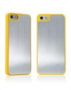 Kryt / obal s broušeným hliníkem pro iPhone 5 žlutá