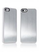 Kryt / obal s broušenýn hliníkem pro iPhone 5 bílá