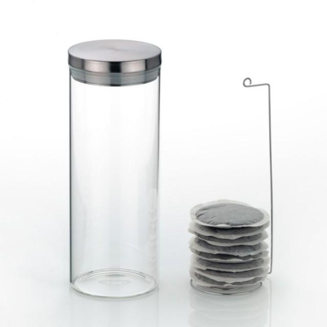 Dóza na čaj a kávu skleněná 1 L